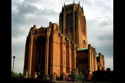 Awe-inspiring Liverpool's Anglican cathedral is visible for miles around the city. The design competition was won by Giles Gilbert Scott in 1906 when he was just 22.